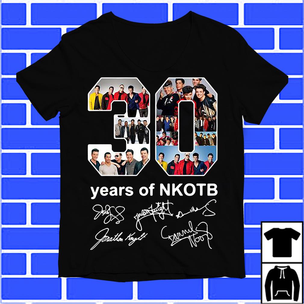 30 Years Of NKOTB Signatures Shirt
