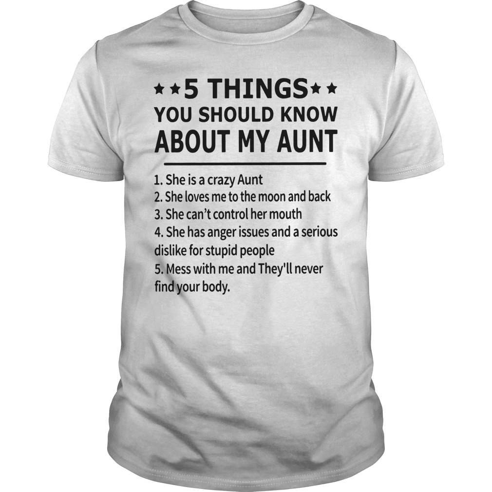 5 Things You Should Know About My Aunt Guy Tees