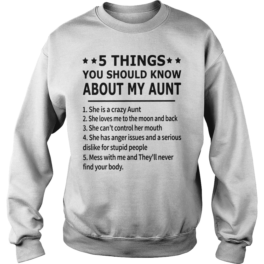 5 Things You Should Know About My Aunt Sweater