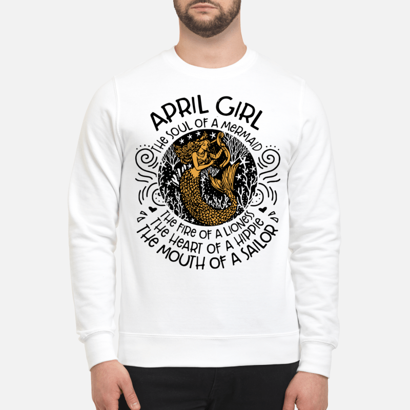 April Girl The Soul Of Mermaid The Fire Of A Lioness Sweater