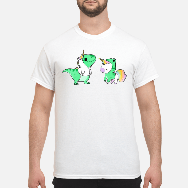 Baby Dinosaur T-Rex And Unicorn Guy Tees