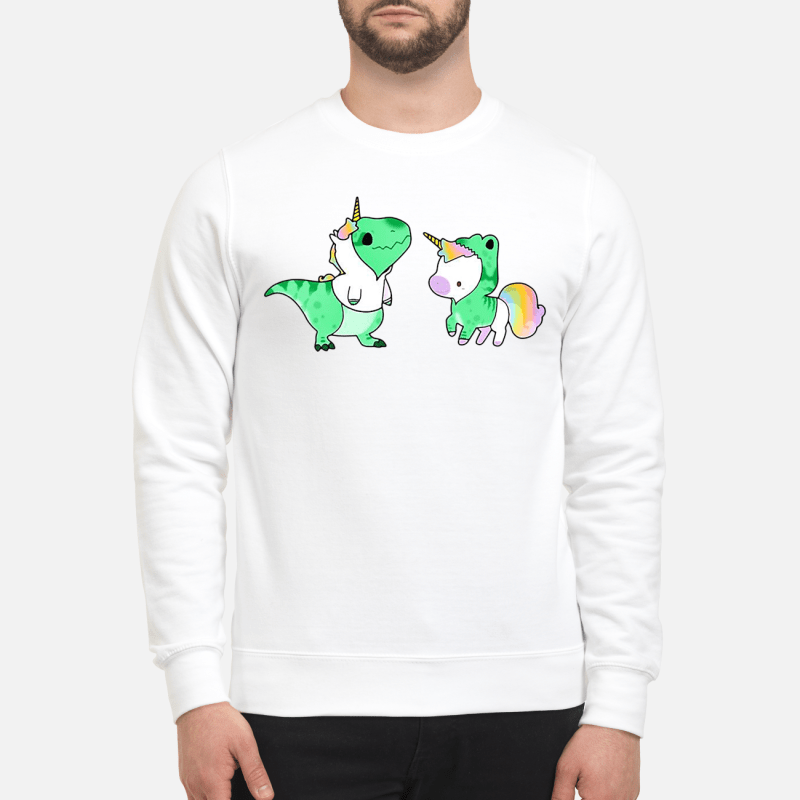 Baby Dinosaur T-Rex And Unicorn Sweater