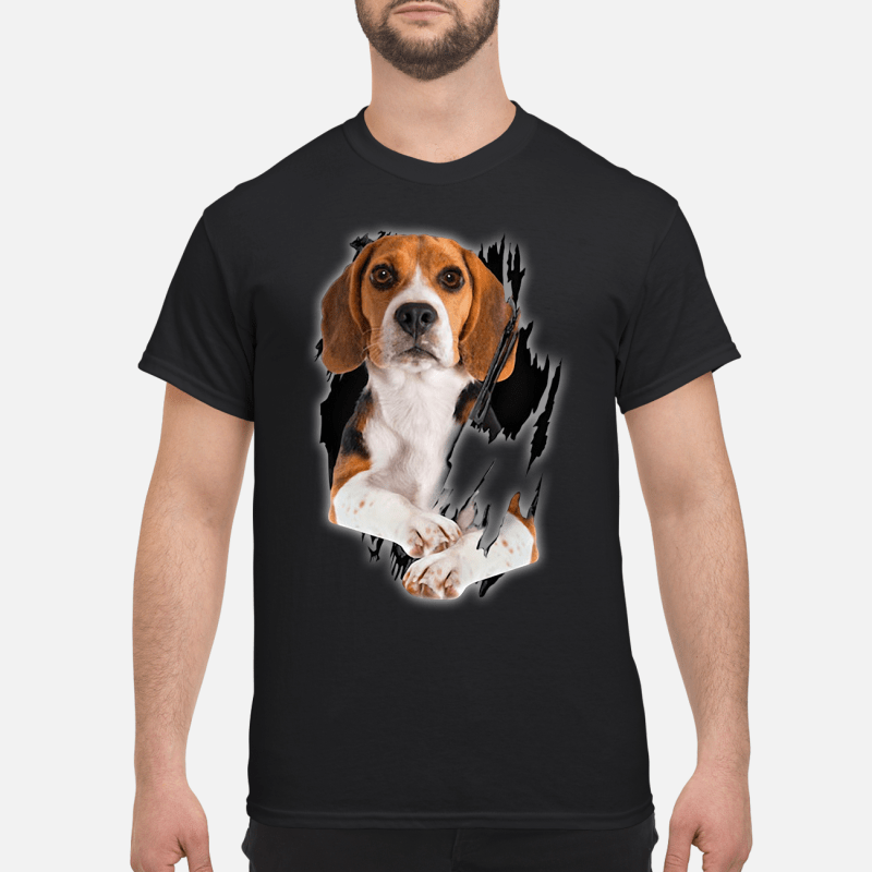 Beagle Inside Me Guy Tees