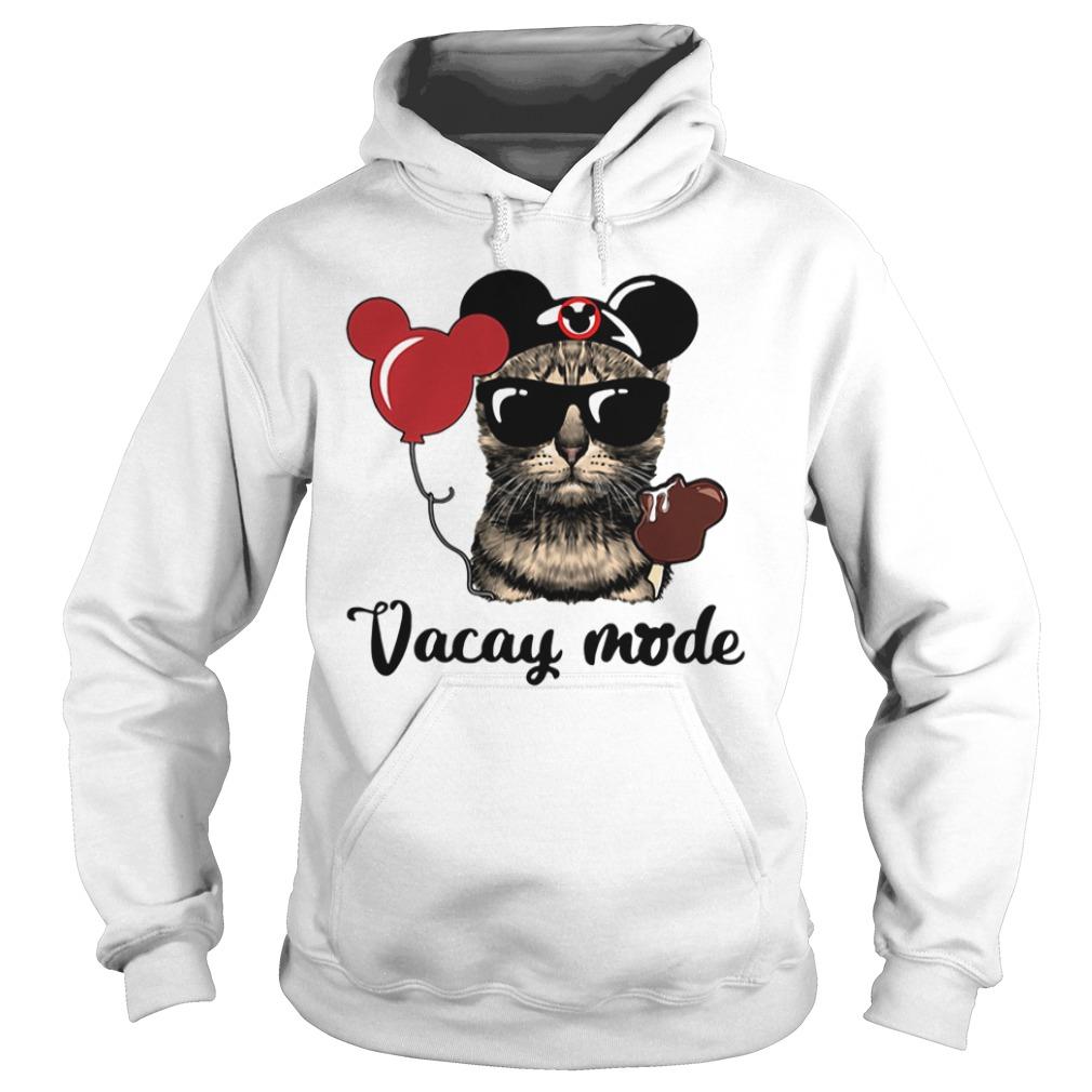 Cat Mickey Vacay Mode Hoodie