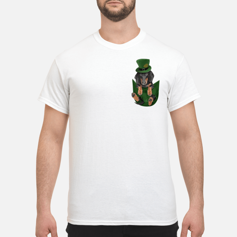 Dachshunds In Pocket St Patrick'S Day Guy Tees