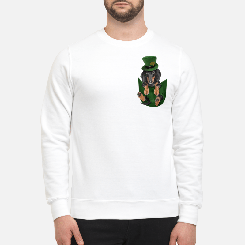 Dachshunds In Pocket St Patrick'S Day Sweater