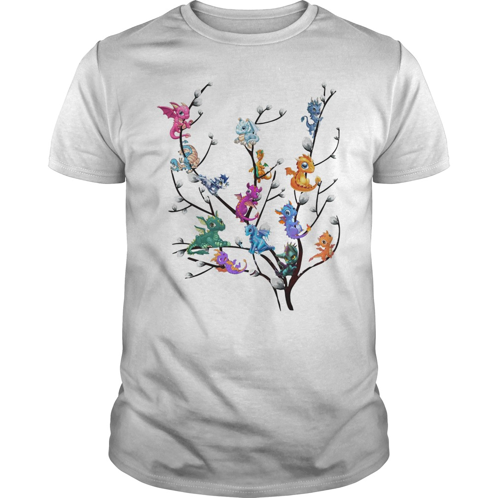 Dragons In Willow Tree Guy Tees