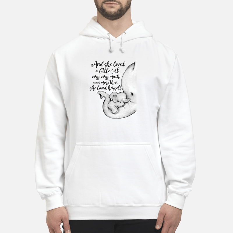 Elephant With Her Baby And She Loved A Little Girl Very Very Much Hoodie