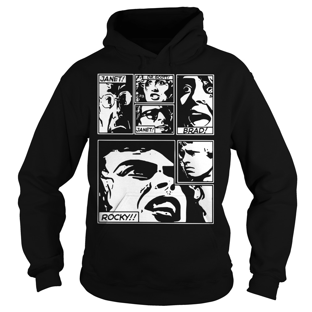 Janet Dr. Scott Janet Brad Rocky The Rocky Horror Picture Show Version Hoodie