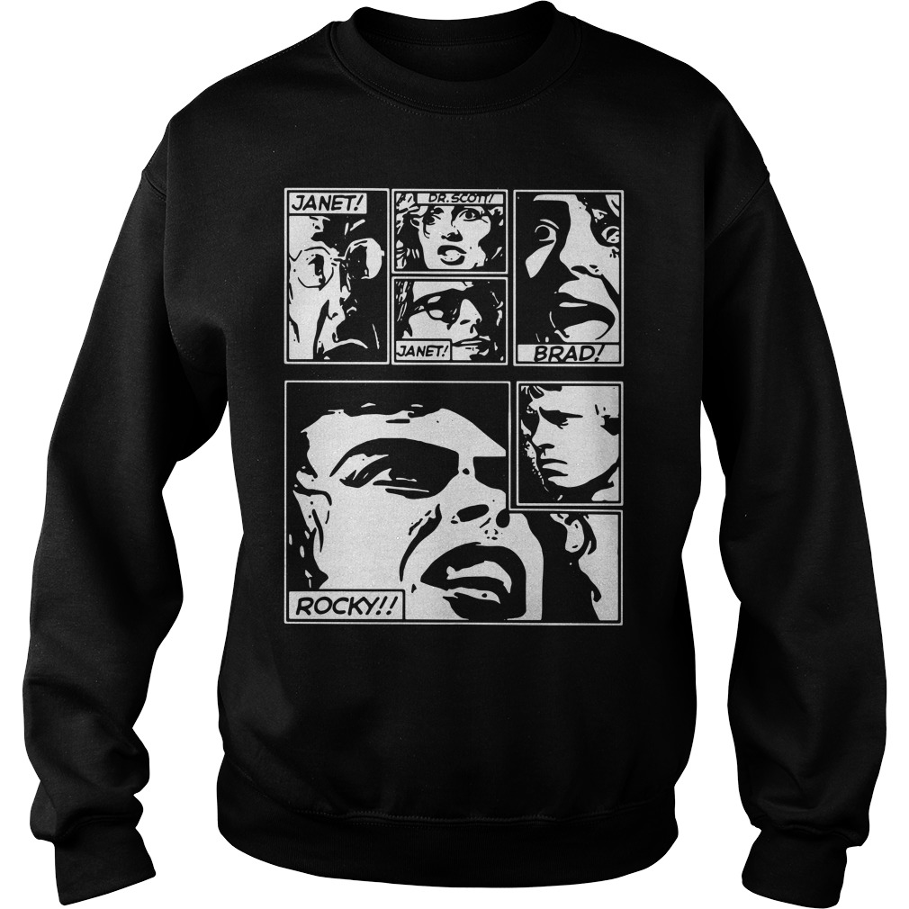 Janet Dr. Scott Janet Brad Rocky The Rocky Horror Picture Show Version Sweater