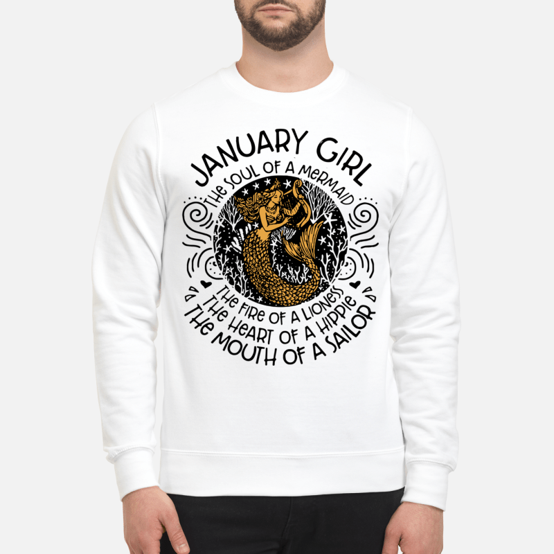 January Girl The Soul Of Mermaid The Fire Of A Lioness Sweater