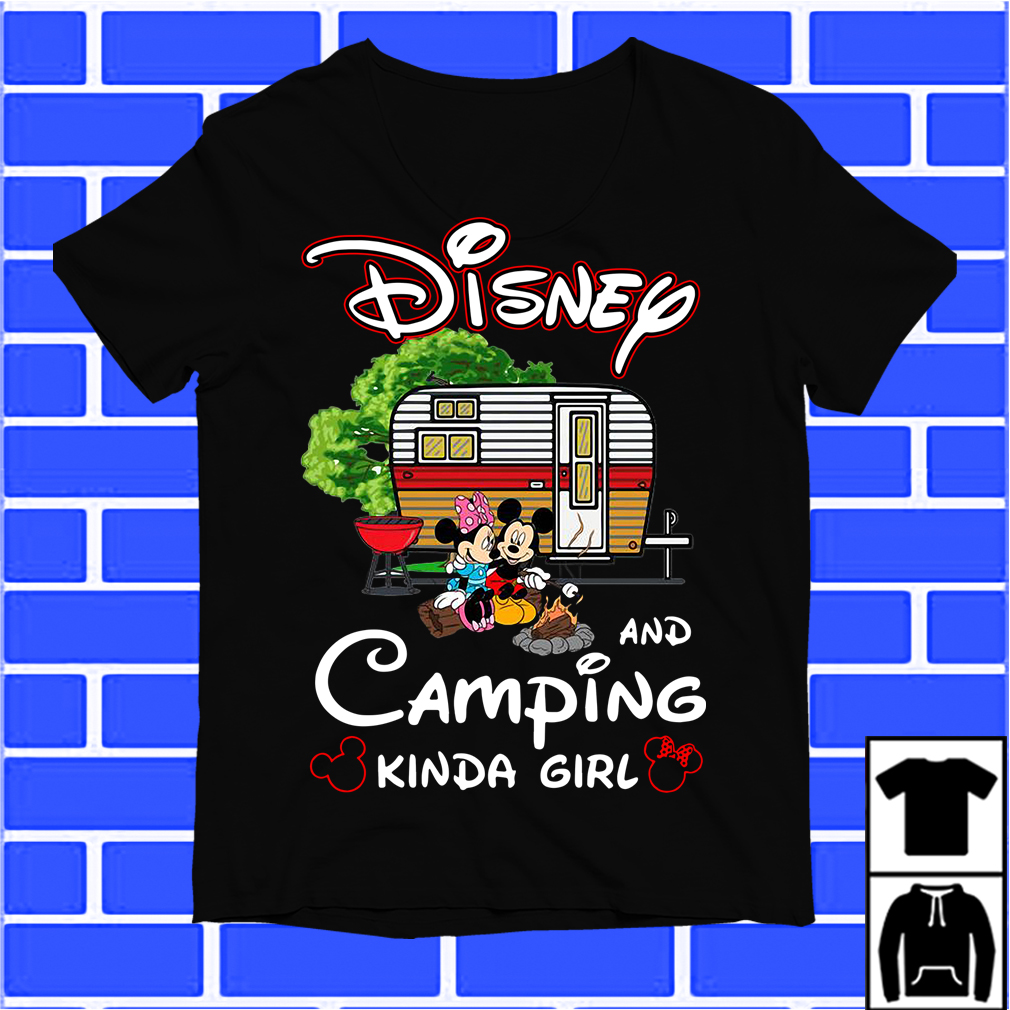 Mickey And Minnie Disney And Camping Kinda Girl Shirt