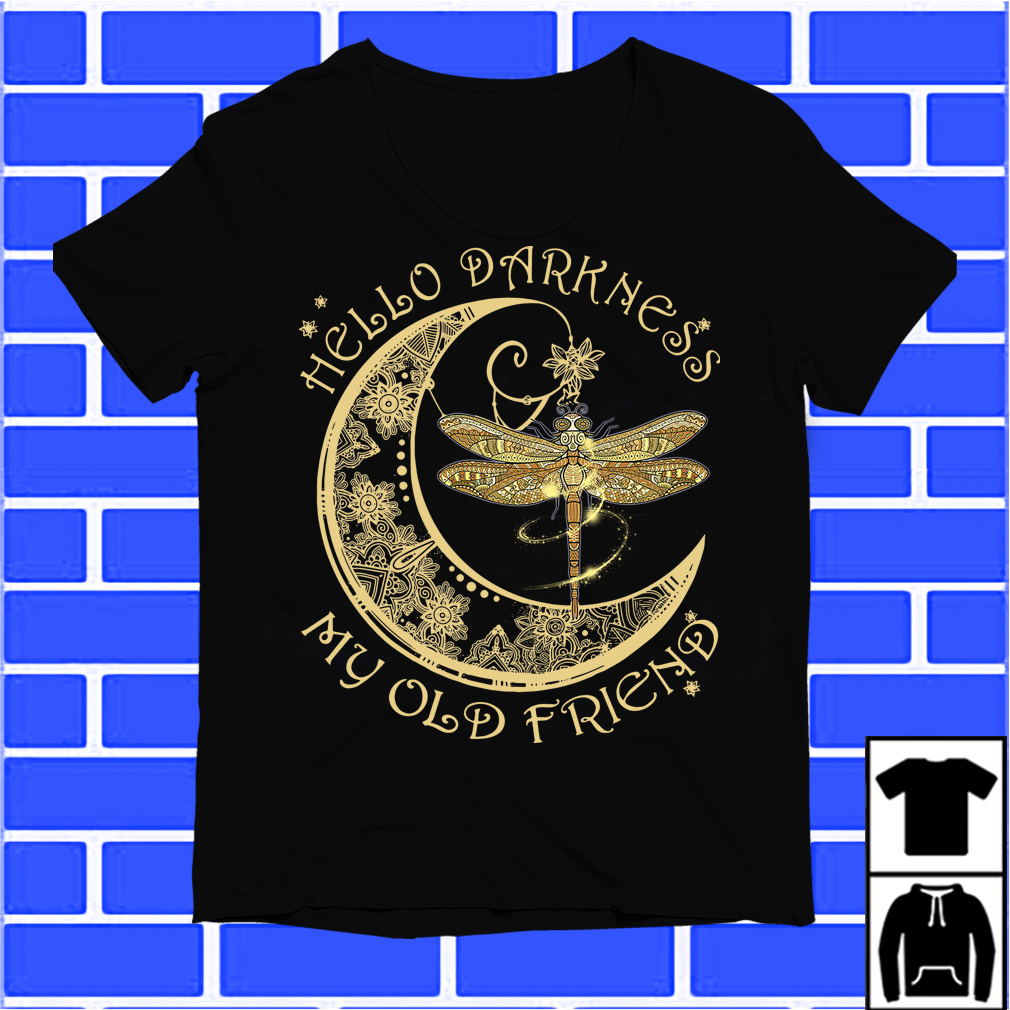 Moon And Dragonfly Hello Darkness My Old Friend Shirt