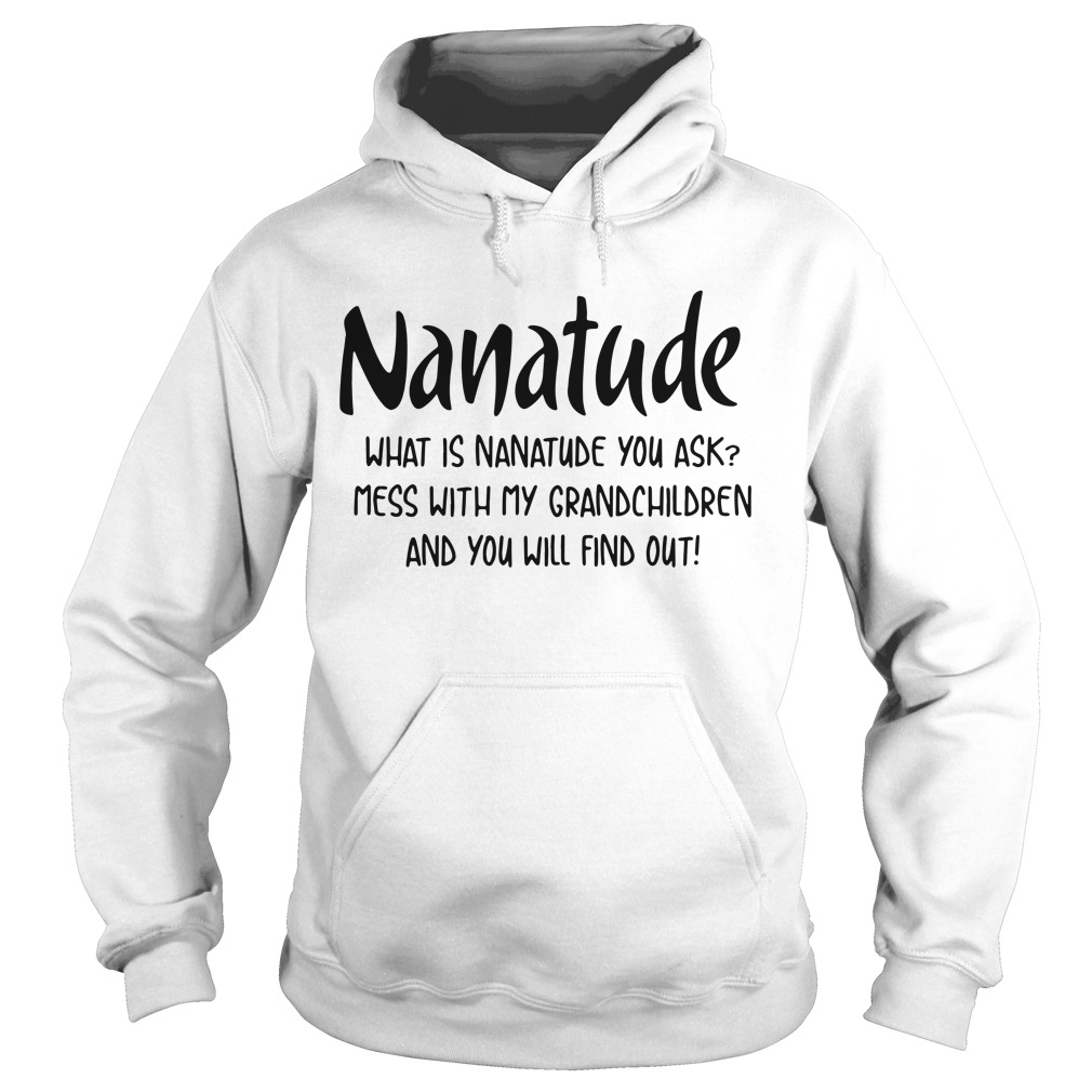 Nanatude What Is Nanatude You Ask Mess With My Niece And You Will Find Out Hoodie