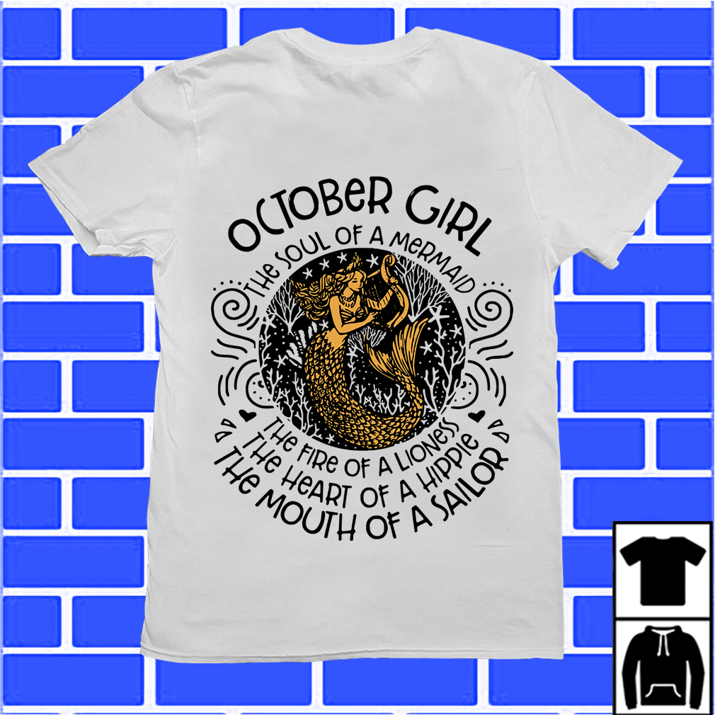 June girl the soul of mermaid the fire of a lioness shirt ...
