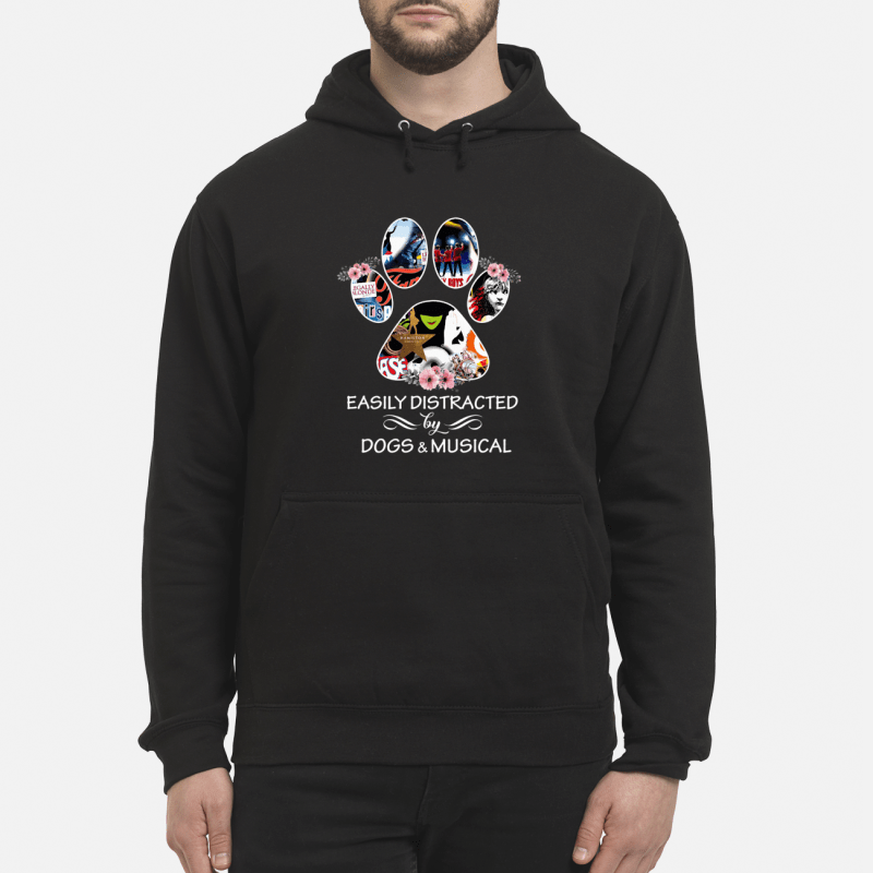 Paw Easily Distracted By Dogs And Musical Hoodie