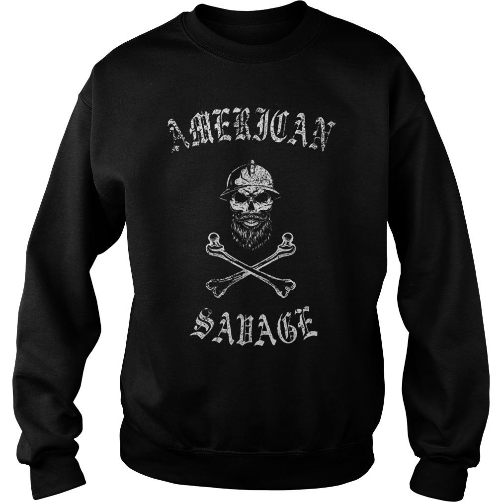 Skull American Savage Sweater