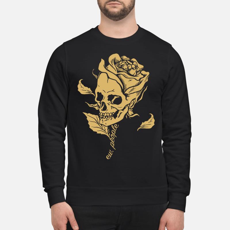 Skull Rose Ew People Sweater