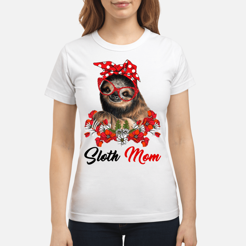Sloth Mom Ladies Tee