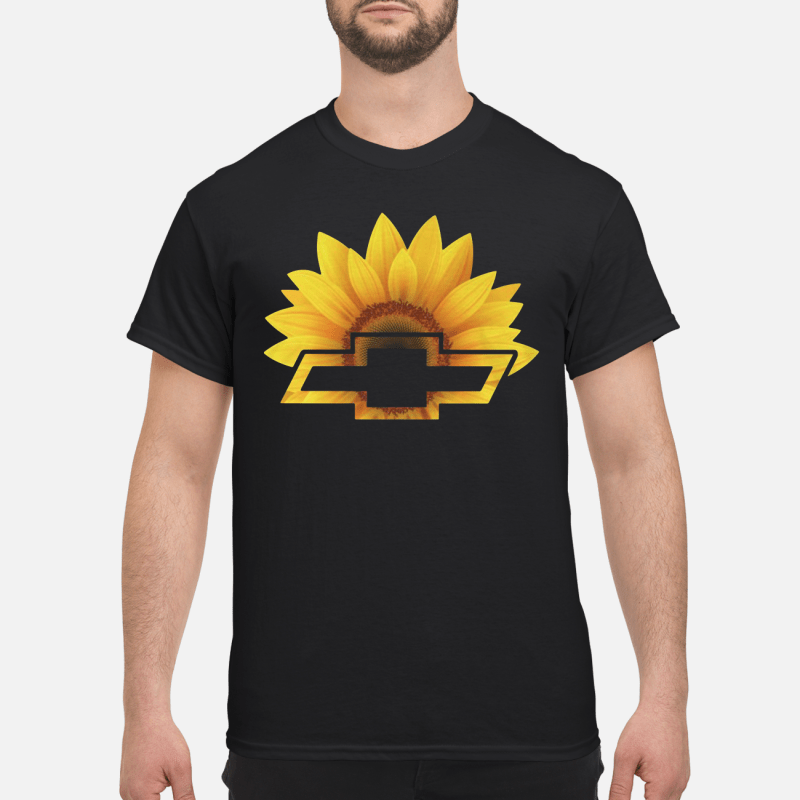 Sunflower With Chevy Logo Guy Tees
