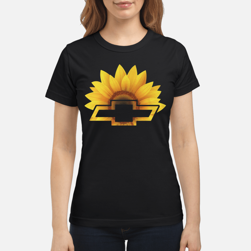 Sunflower With Chevy Logo Ladies Tee
