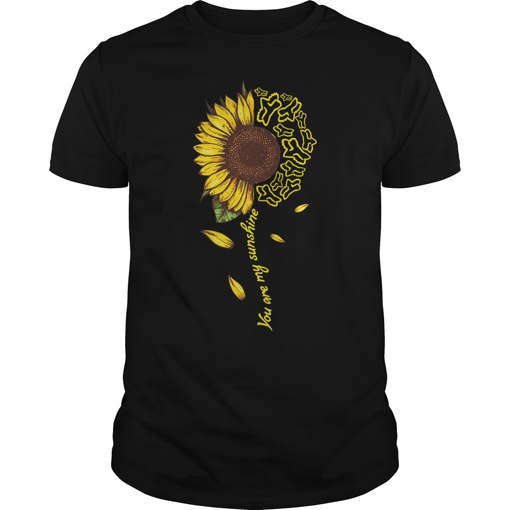 Sunflower Moto Ride You Are My Sunshine Guy Tees