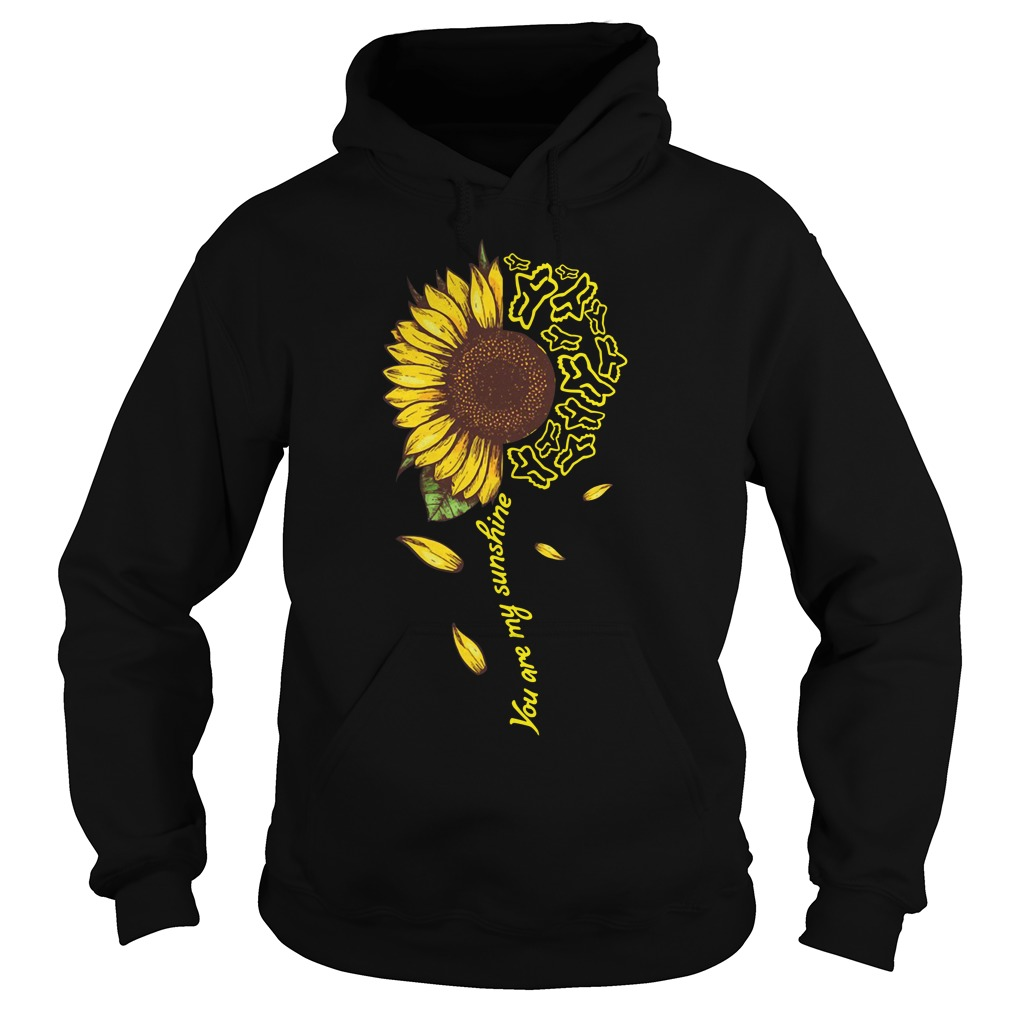 Sunflower Moto Ride You Are My Sunshine Hoodie