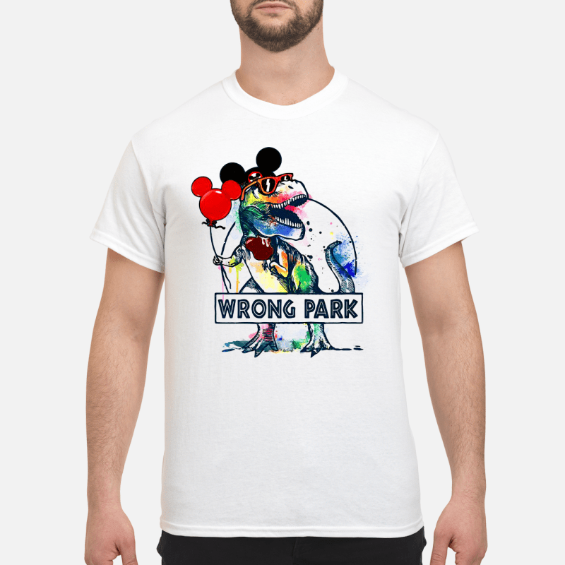 T-Rex With Mickey Ear Wrong Park Guy Tees