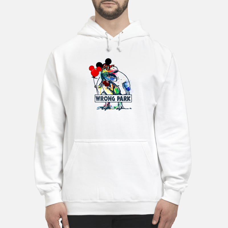 T-Rex With Mickey Ear Wrong Park Hoodie