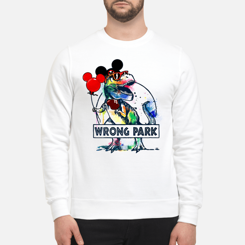 T-Rex With Mickey Ear Wrong Park Sweater