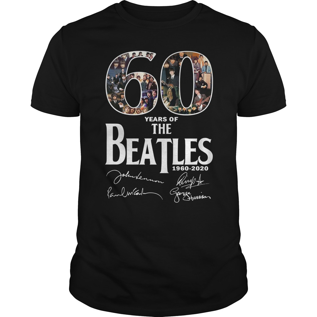 60 Years Of The Beatles 1960-2020 Signature Guy Tees