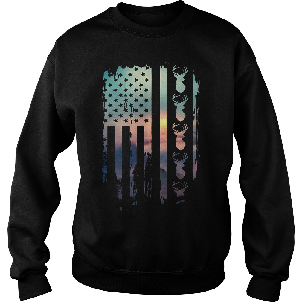 American Flag Hunting Sweater
