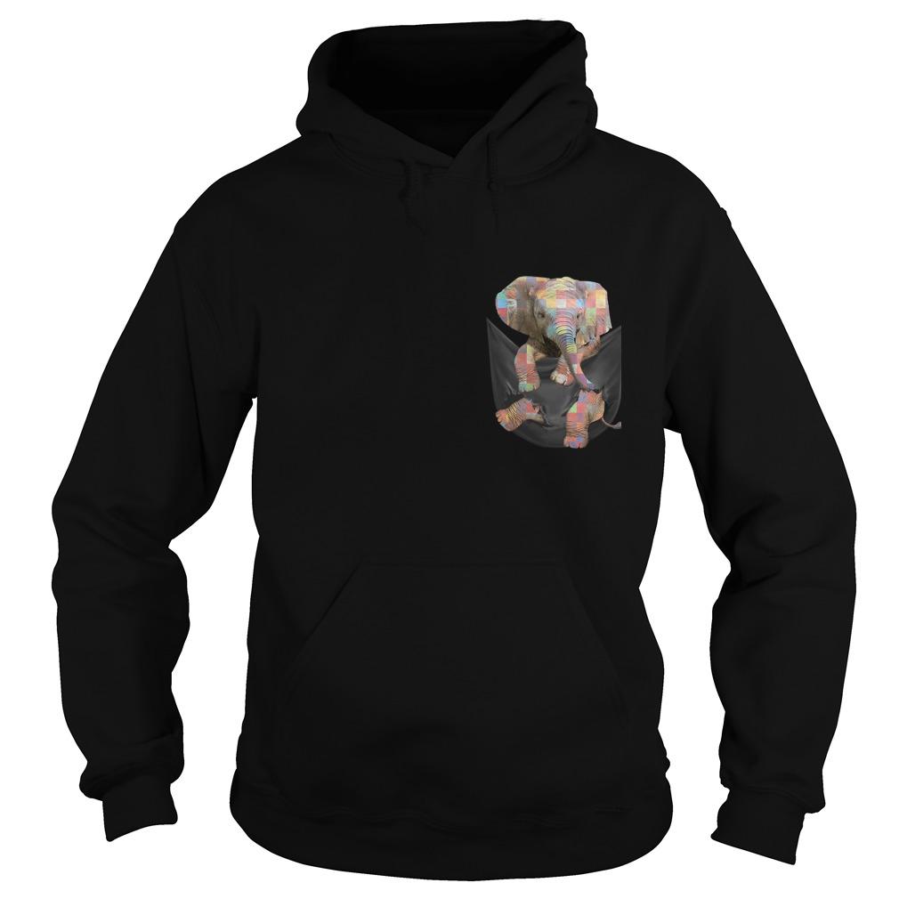 Autism Elephant In Pocket Hoodie