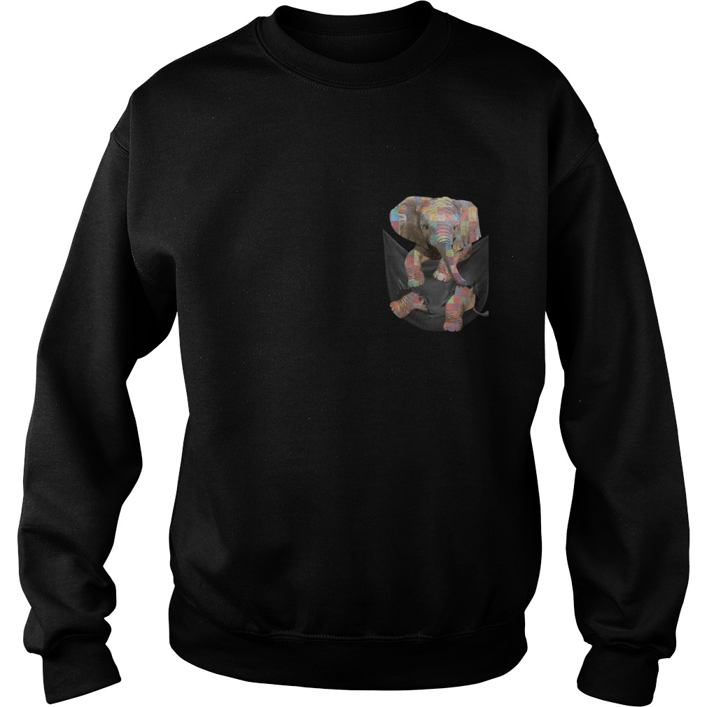 Autism Elephant In Pocket Sweater