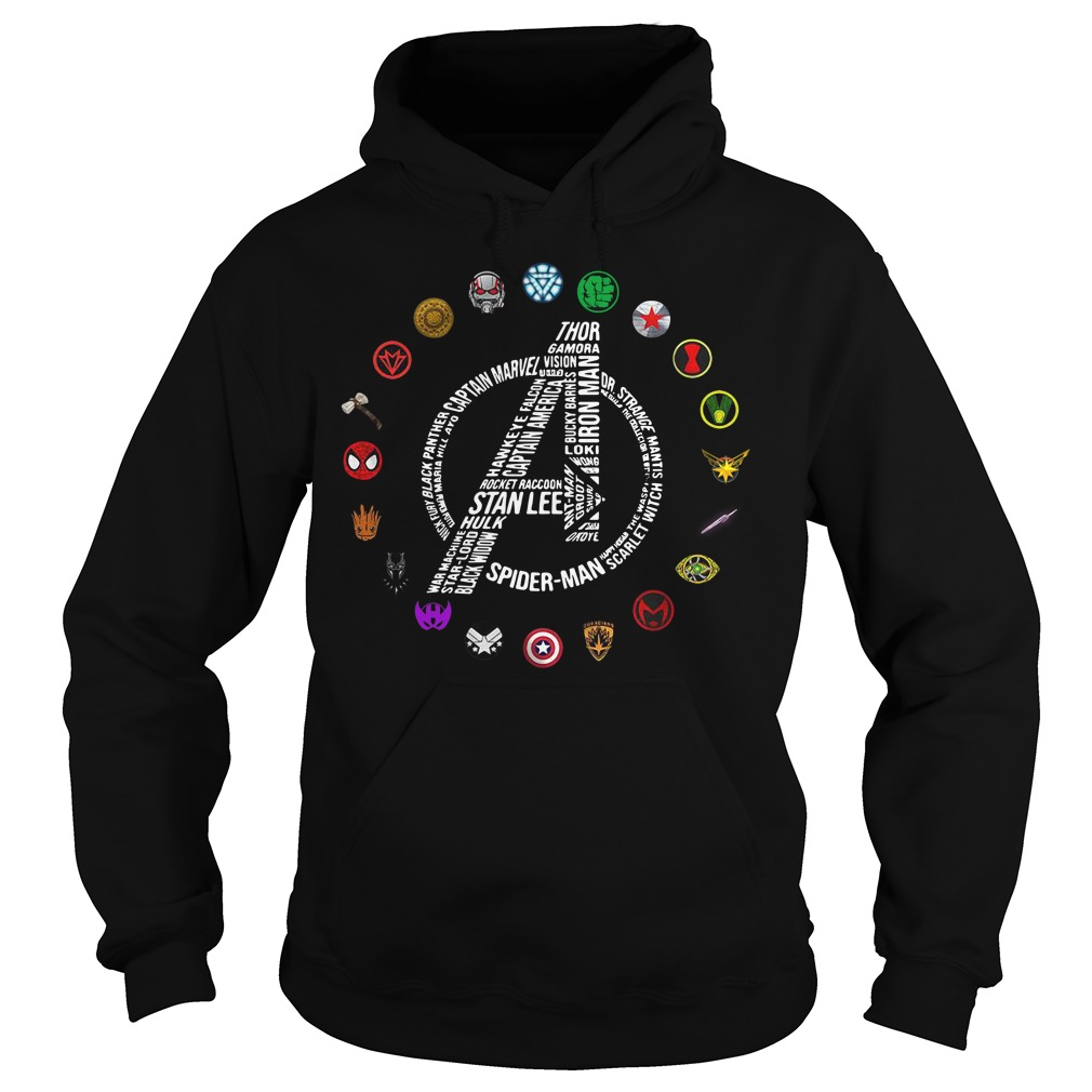Avengers Logo All Characters Stan Lee Hoodie