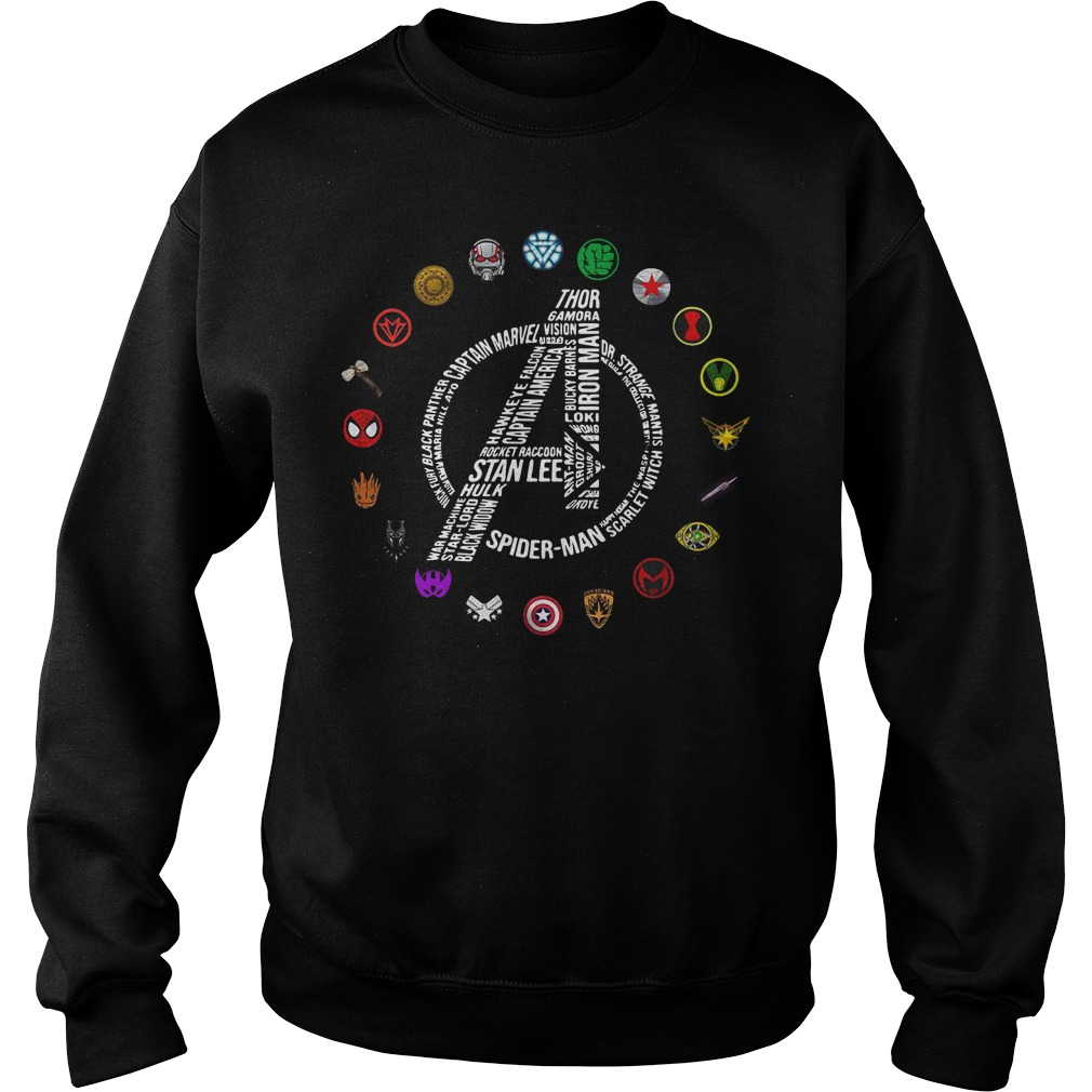 Avengers Logo All Characters Stan Lee Sweater