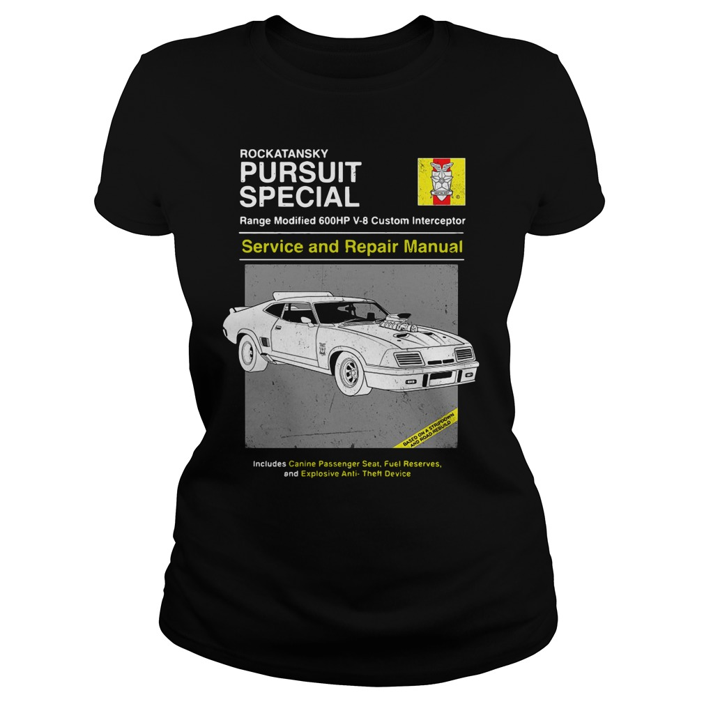 Car Rockatansky Pursuit Special Service And Repair Manual Ladies Tee