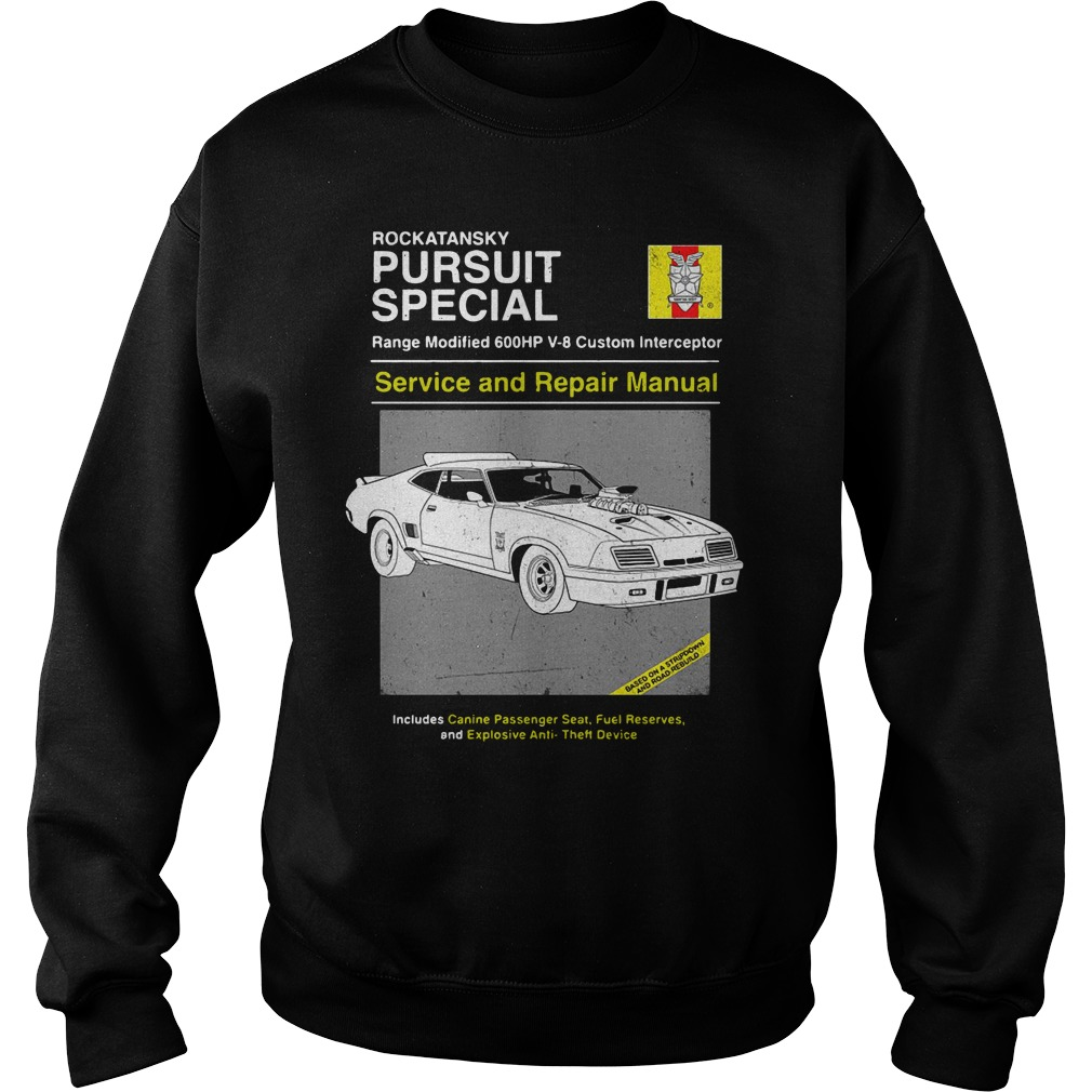 Car Rockatansky Pursuit Special Service And Repair Manual Sweater