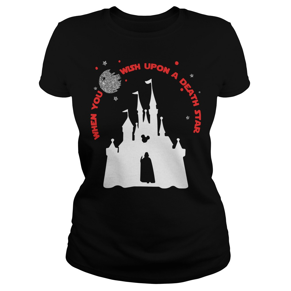Disney Star Wars When You Wish Upon A Death Star Ladies Tee