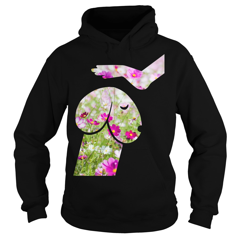 Dog And Hand Are Flowers Hoodie