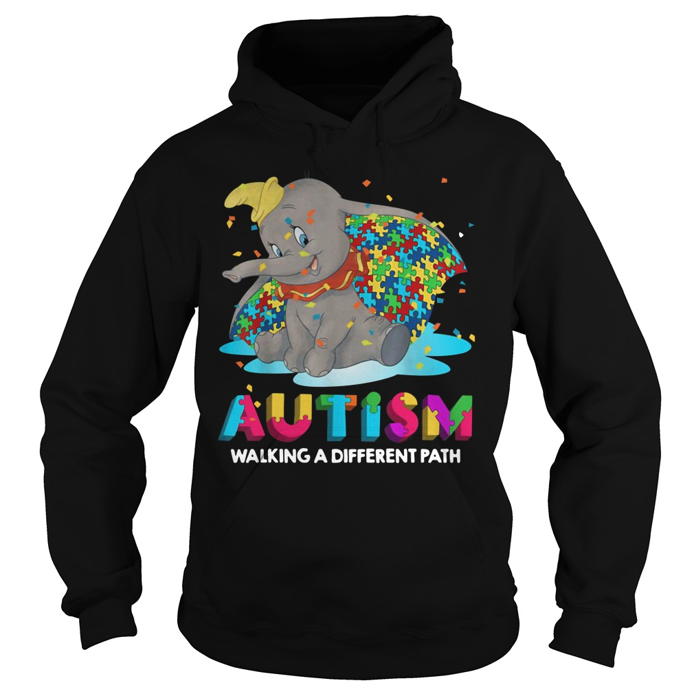 Elephant Autism Walking A Different Path Hoodie
