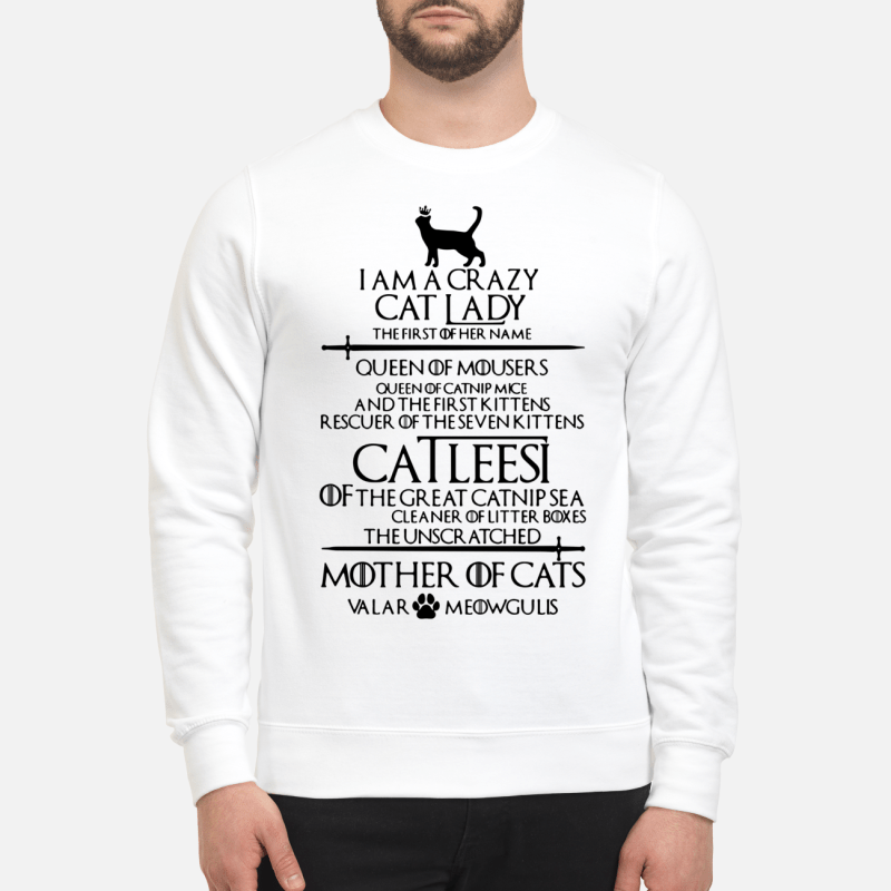 Game Of Thrones I Am A Crazy Cat Lady Sweater