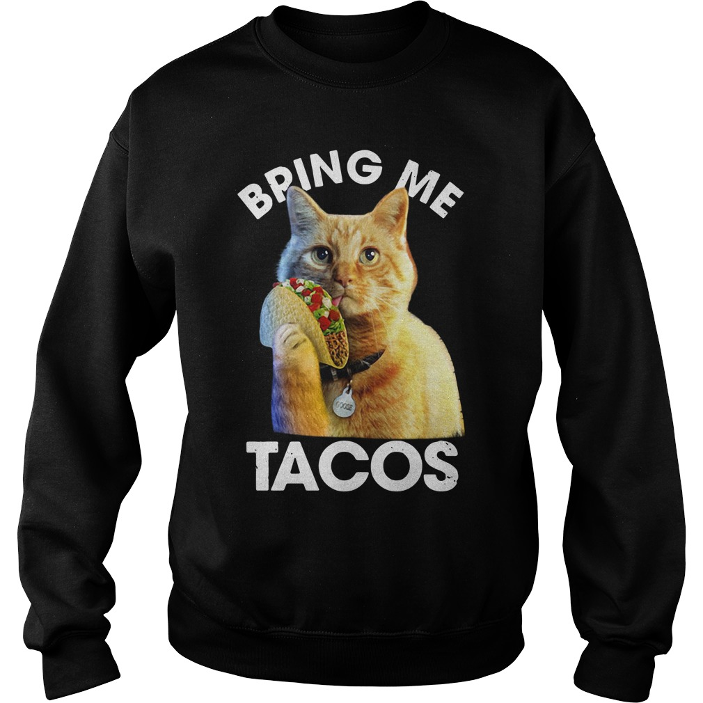 Goose The Cat Bring Me Tacos Sweater