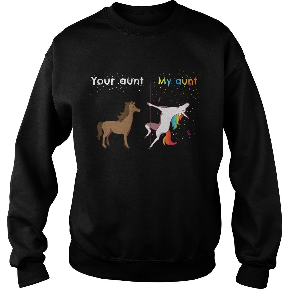 Horse Unicorn Your Aunt My Aunt Sweater