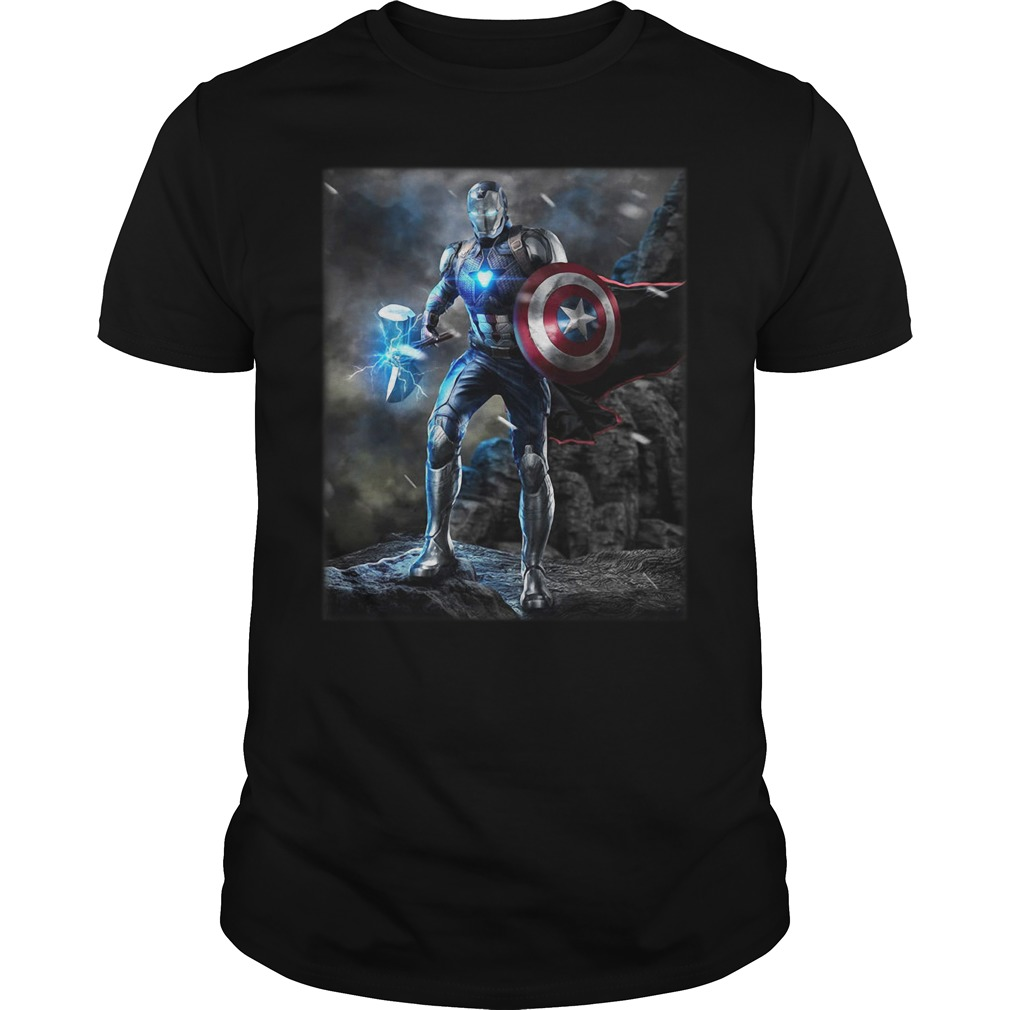 Marvel Avengers Endgame Combined Thor Captain America Ironman Guy Tees
