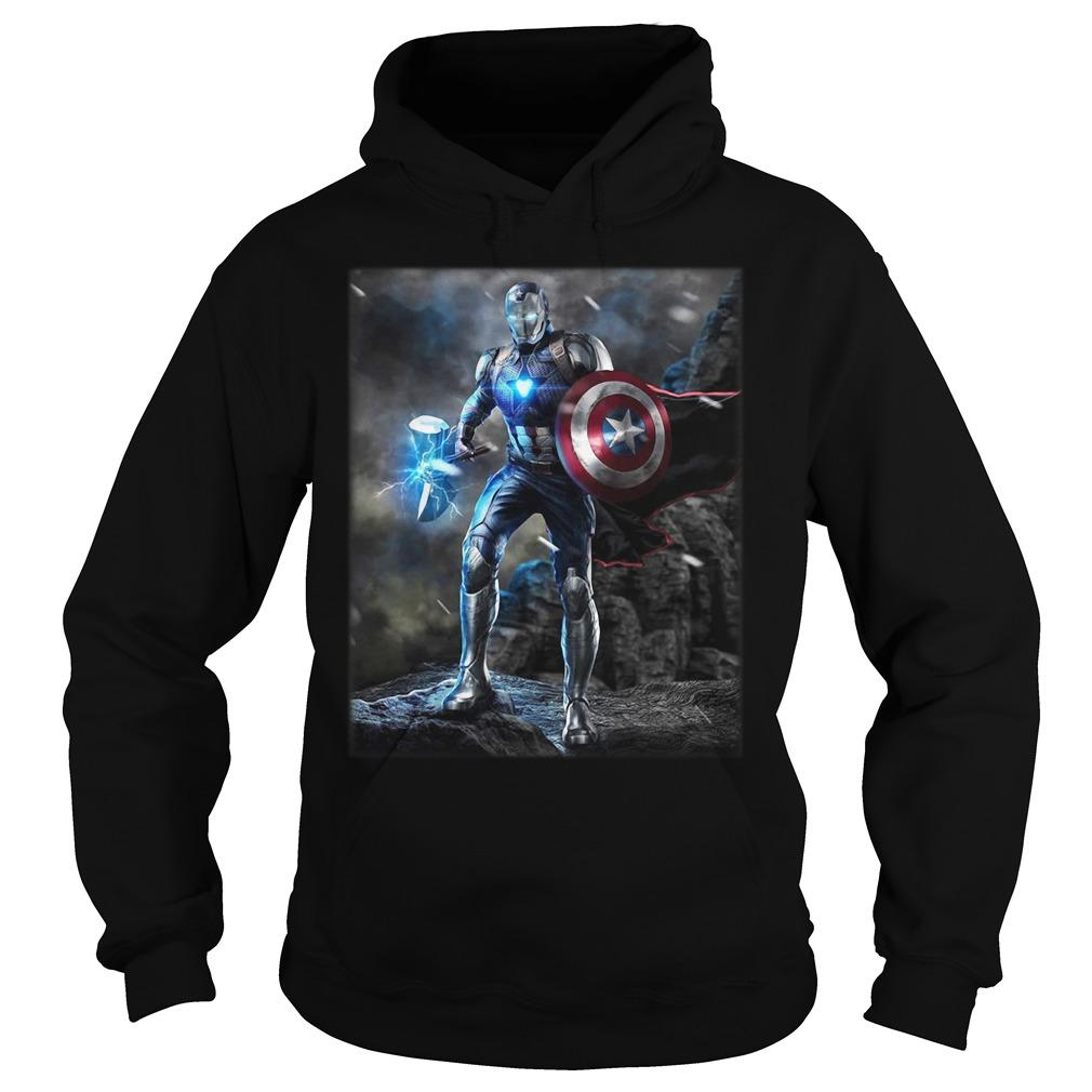 Marvel Avengers Endgame Combined Thor Captain America Ironman Hoodie