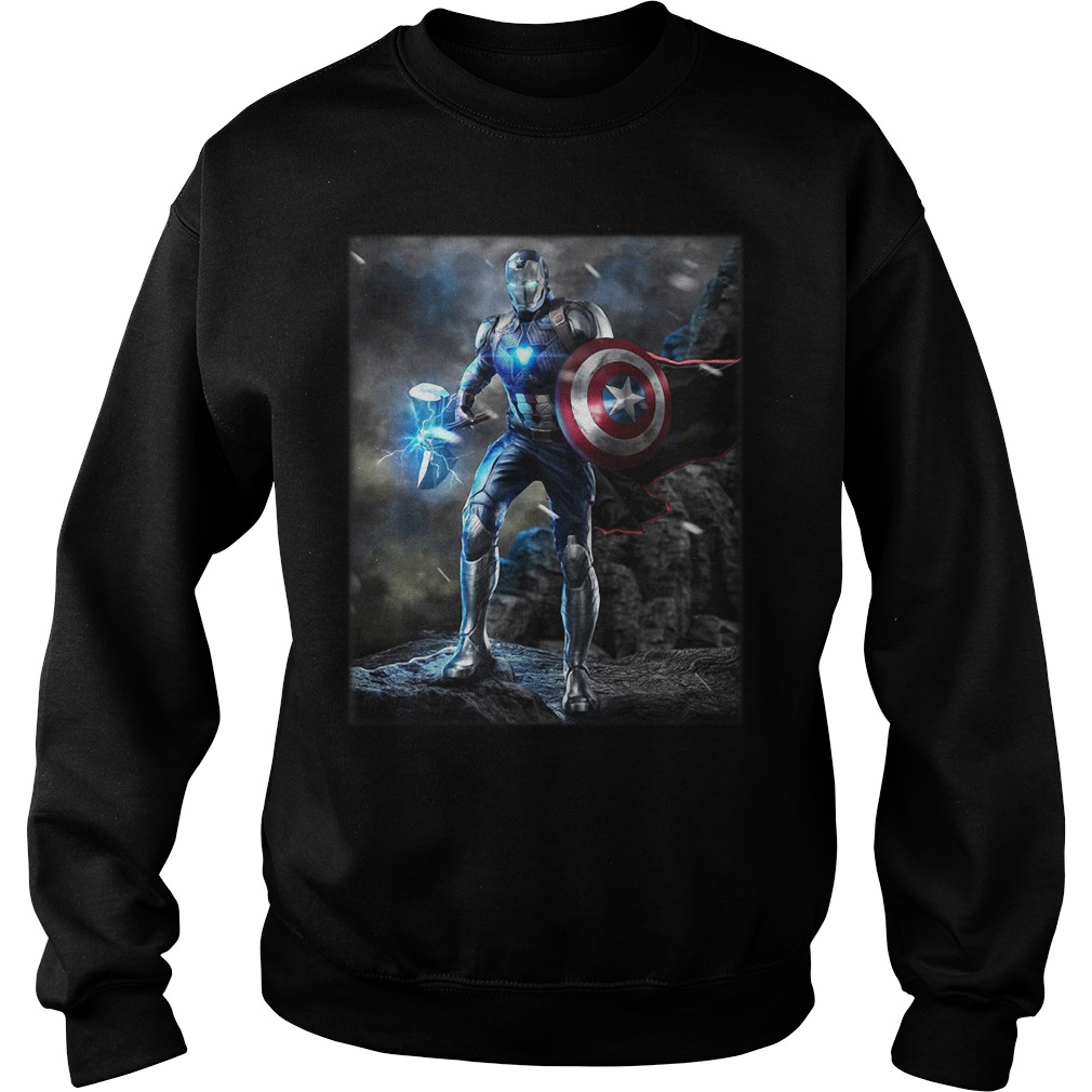 Marvel Avengers Endgame Combined Thor Captain America Ironman Sweater
