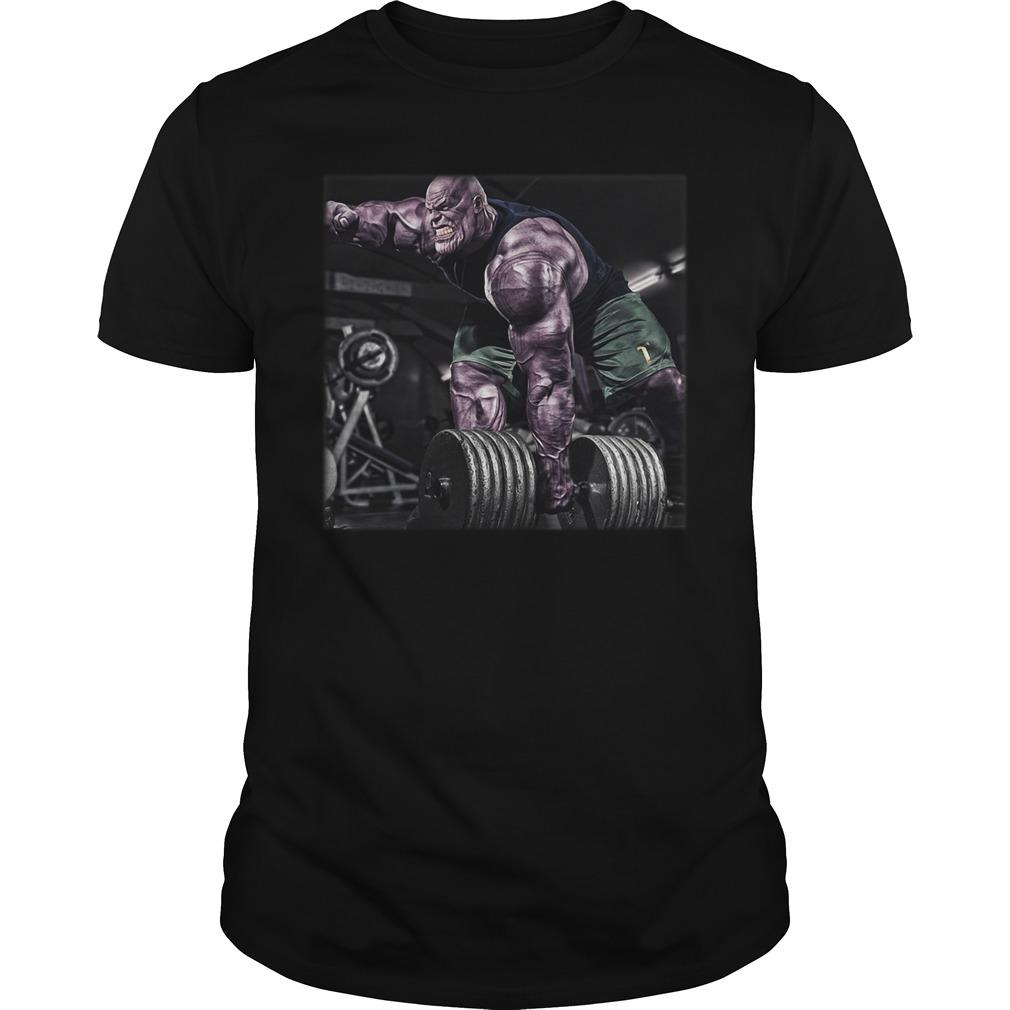 Marvel Avengers Endgame Thanos Lifting Weight Guy Tees