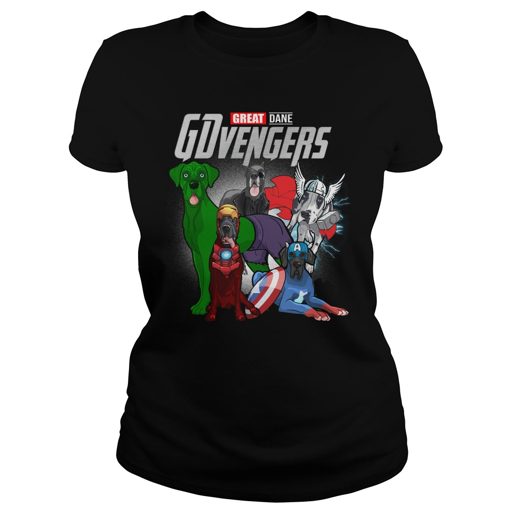 Marvel Gdvengers Great Dane Version Ladies Tee