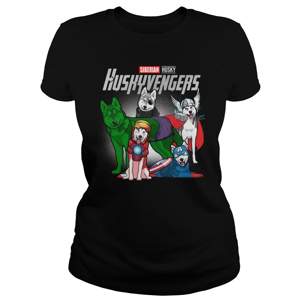 Marvel Huskyvengers Husky Version Ladies Tee